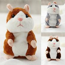 2017 New Talking Hamster Mouse Pet Plush Toy Hot Cute Speak Talking Sound Record Hamster Educational Toy for Children Gifts 15cm(China)