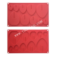 Silicone Jelly Candy Chocolate Mould Tray WITH 20Pcs plastic Stick Strawberry Shape(China)