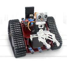 Carry RC Tank Track Aluminum Alloy Vehicle Chassis App RC Track Chassis with Bluetooth/IR Module + 2 DC Motors + Control Panel(China)
