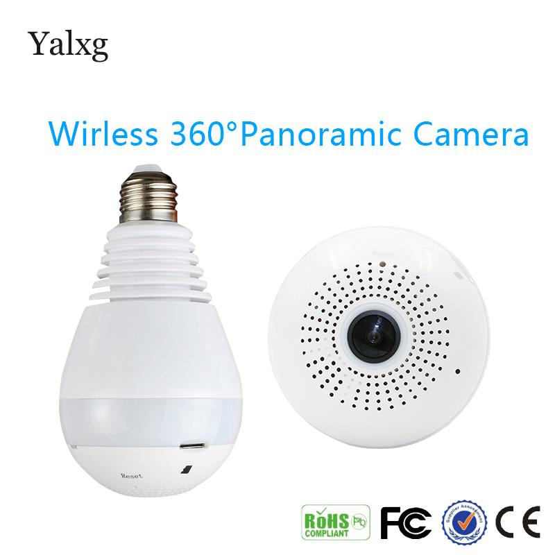 1080P H.264 HD Wifi Bulb Light Mini Fisheye CCTV Camera Local Alarm Led 3D Panoramic Lamp DVR Wireless CCTV IOS/Android Cam<br>