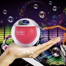 Portable Simple Lovely Mini Speaker 3.5mm Mini Outdoor LED Colorful Flash Light Unique Speaker Mini Sound Box For Cellphone