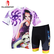 Paladin Cartoon One Piece 2016 Women Polyester Robi Choppe Cycling Jersey Tops + Shorts Bike TMB Ride Quick Drying Clothing Set