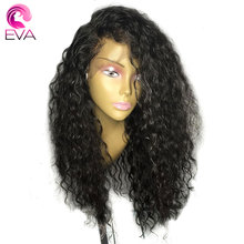 Eva Hair 180% Density 360 Lace Frontal Wig Pre Plucked With Baby Hair 10-22 Brazilian Curly Lace Front Human Hair Wigs For Women(China)