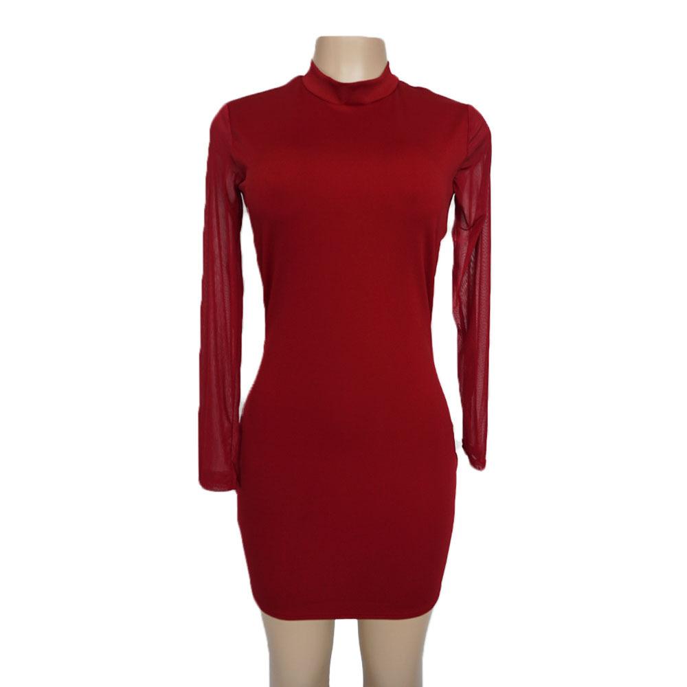 Swaggy HTB1gZ25avjM8KJjSZFNq6zQjFXau Langärmliges Slim Kleid
