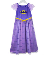 Perfect Quality BATGIRL BAT GIRL Princess girls childrens kids dress summer short sleeve girl dresses fancy costume cosplay