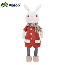 Metoo 1 pc red close rabbits dolls sweet plush toy for Girls or boys Birthday Christmas Gift cute Tiramitu Rabbits kids doll