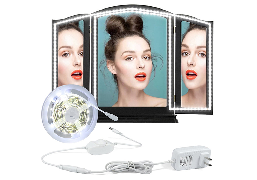 LED Vanity Mirror Light Kit with Dimmer and Power for Makeup Dressing Table Set