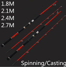 Red Crabon Boat  Fishing Rod Spinning/Casting  Lure Rod   Jigging Rod    Deep Sea Rod  Fishing Tackle