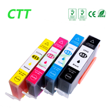 4 PCS compatible ink cartridge for HP655 cartridge for HP Deskjet 3525 4615 4625 5525 6520 6525 6625 with chip 4 color(China)