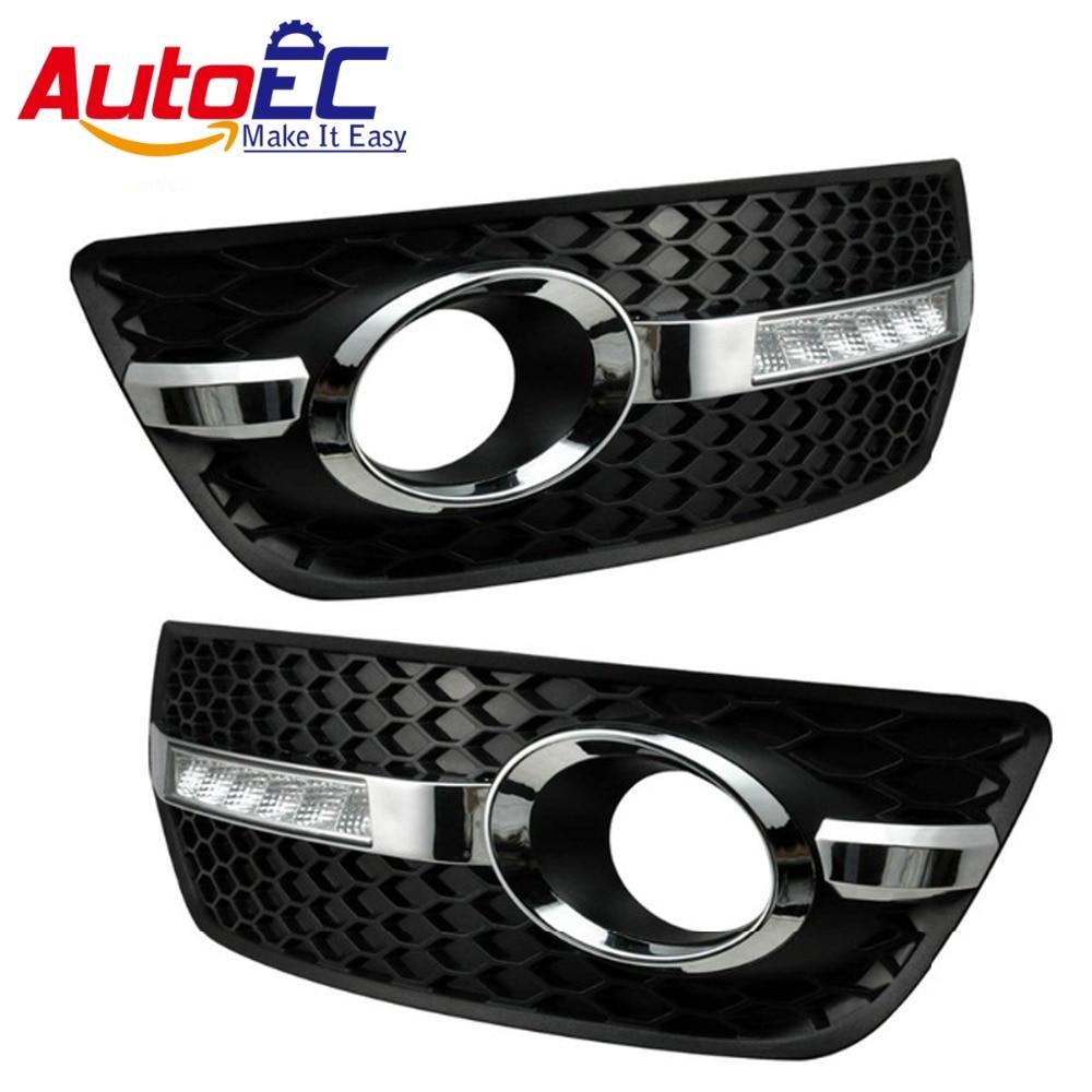AutoEC Fog Light Grille Daytime running light fog lamp 12smd led drl 6000-7500k white for audi Q5 2010 2011 2012 DC12V#LM148<br><br>Aliexpress