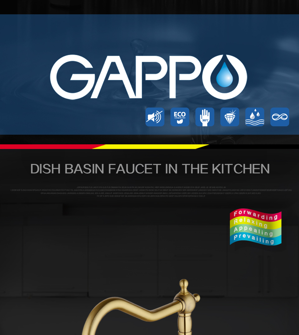 GAPPO 1set water faucets kitchen faucet tap brass Kitchen sink mixer Crane drinking Faucet Cold Hot Water filter Mixer G4391-4