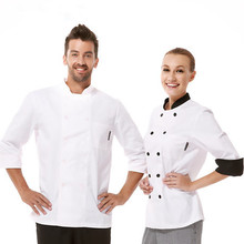Fashionable Unisex Chef's Uniform,Breathable Fabrics,Chef Top Jackets,Chef's Kitchen Long Sleeve Work Wear,Free Shipping,CO01