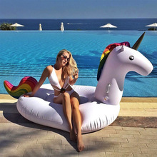 200cm Inflatable Unicorn Giant Pool Float Inflatable Swimming Ring Pool Circle Beach Sea Water Party Toys