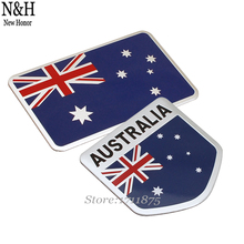 8x5cm Auto Emblem Sticker For Australian Australia Flag Logo Aluminum Alloy Decal Badge For Chevrolet Peugeot Subaru Mazda Jeep