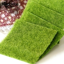 4 PCS Micro Landscape Fake Lawn Moss Emulation Lawn Miniature Decoration Artificial Grass Garden Turf Stakes 15x15cm
