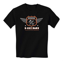 GILDAN man t-shirt Dodge Hemi Winged Badge Est. 1914 Officially Licensed Mens T-Shirt