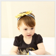Cute Ears Bow Baby Headband Yellow&Black Children Headwear HB032
