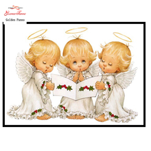 Embroidery,Diamond mosaic,DIY 5D Diamond painting,3D Diamond stitch,Diamond Embroidery Pattern Rhinestone  Angel Cross Stitch