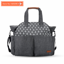 baby travel changing diaper tote fashion mummy maternity nappy bag organizer baby bag stroller messenger bags handbags for moms(China)