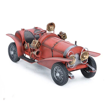 31 cm Classic Ironwork Ancient Cars Collection Showcase Craftwork Handmade Tin Vintage Car Model