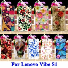 AKABEILA Colorful Rose Peony Flower Mobile Phone Cases For Lenovo Vibe S1 S1C50 S1A40 5.0 Covers Rubber Shell Hood Flexible Bags
