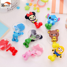 1pcs lovely Cartoon silicone Sucker Toothbrush Holder suction hooks/Household Items / toothbrush rack/bathroom set Free shipping