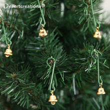 20Pcs/lot 11mm Golden Bells For Christmas Tree Decorations Cute Jingle Bell Crafts Christmas Decoration Bells(China)