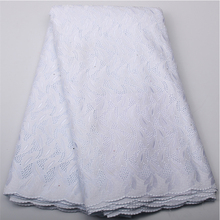 White High Quality For Women And Men Cotton Dry Lace Fabric Swiss Voile With Stone Swiss Voile Lace In Switzerland NA450B-4