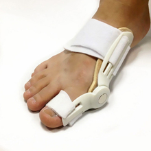 1Pcs Bone Thumb Protector Overlapping Straightener Orthopedic Massager Toe Separators Valgus Pro Corrector Brace Foot Massage(China)