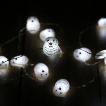 3M 40LED Battery Operated Polar Bear Shaped White String Lights Holiday Party Fairy Lights Silver Wire Lights with Remote(China)