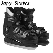 Japy Skates Action Ice Skates Hard Boot Ice Hockey Shoes Adult Child Ice Skates Professional Hockey Knife Shoes Real Ice Skates(China)