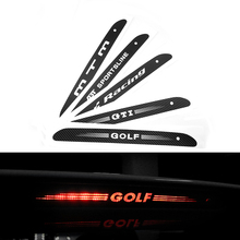 Carbon Fiber Stickers And Decals High Mounted Stop Brake Lamp Light  Car Styling For VW Volkswagen GOLF 6 7 MK6 MK7 POLO Tiguan