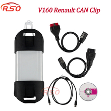 dhl free Renault Can Clip v160 Full Chip OBD2 Diagnostic Tool for Renault Can Clip Scanner Multi-Languages Can Clip V160