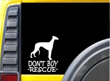 Car Styling for Don't Buy Rescue Sticker k227 6 inch Greyhound dog decal Car Sticker(China)