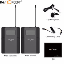 K&F CONCEPT M-8 Wireless Lavalier Photographic and Recording DSLR professional Microphone With Low Noise and Large Dynamic Range