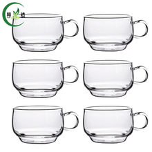 6pcs 65ml High Quality Heat-Resisting Glass Tea Cup Xiao Ba Cup Coffee Green Tea Cup Da Hong Pao Cup(China)