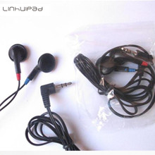 Linhuipad Black stereo disposable earbuds DE-05 Cheap earphone for tourist bus ,airlines 5000pcs/lot