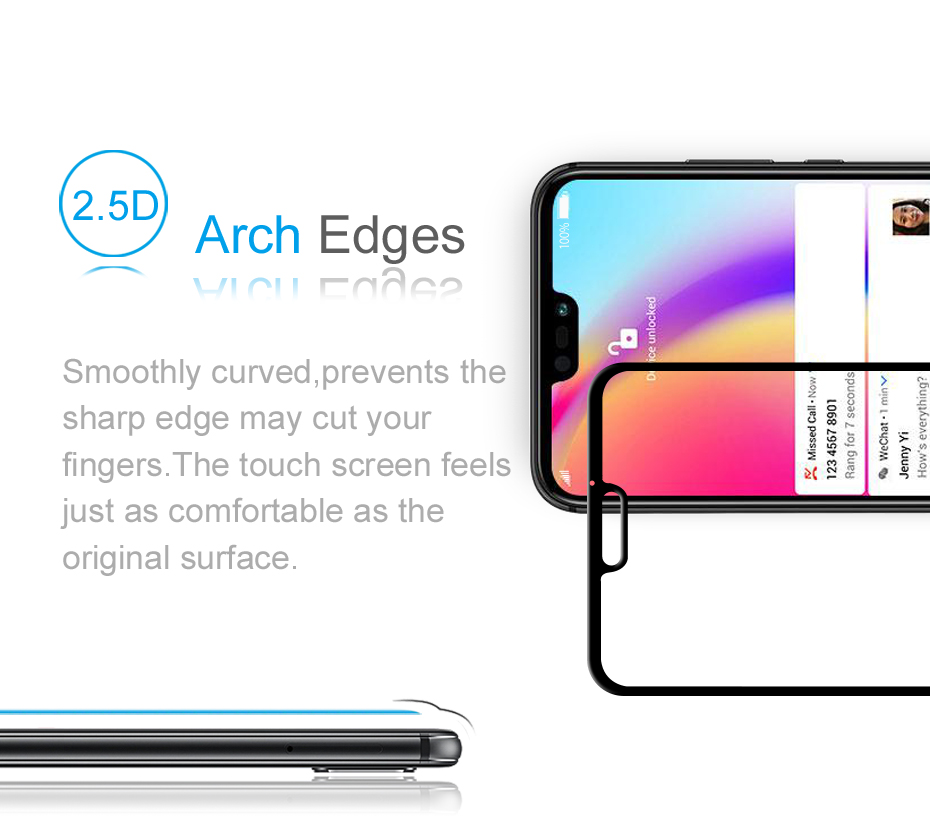 Original ZEASAIN Full Cover Tempered Glass for Huawei P20 Lite P20Lite Huaweip20 Lite Screen Protector 9H 2.5D Safety Glass Film (13)