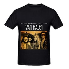 Make Your Own Tee Shirt Broadcloth Van Halen The Live Broadcast Collection Soul Men Screen O-Neck Short-Sleeve(China)