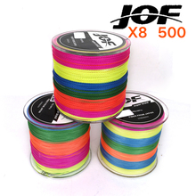 500m Fishing Line Fiber From Japan 8 STRANDS Colorful braided fishing line multifilament fishing line(China)