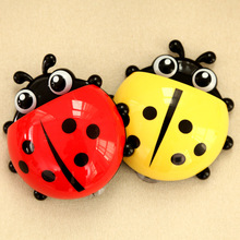 2 Pcs Creative Toothpaste Holder Ladybug Toothbrush Holder Suction Home Minion Toothbrush Holder Plastic Holding A Toothbrush(China)