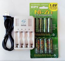 New 8PCs 2500MW H NI Zn 1.6VA A rechargeable battery batteries + 2*BATTERY BOX +4 ports NI-Zn NiMH AAAAA battery smart charger
