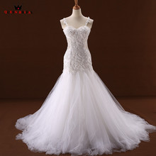 Buy Custom Size Mermaid Sweetheart Lace Beading Blue Ivory Sexy Wedding Dresses Bridal Wedding Gowns 2018 New Vestido De Noiva WD91 for $306.33 in AliExpress store