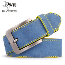 Buy DWTS2017 designer high luxury brand pin buckle blue belts men male strap men's fashion casual belt cinto masculino for $9.17 in AliExpress store