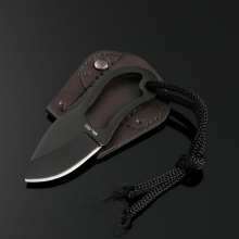 Outdoor Pocket Knife 440C Stainless Steel Fixed Blade Survival Tools Camping Fruit Knives with Leather Sheath Cooking Cutter