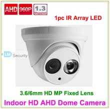 Lihmsek Top Quality 1.3 MP 960P AHD Camera 2.8-12 mm Varifocal lens 1200TVL Indoor Dome cctv security camera Free Shipping(China)