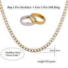 New Necklaces High Quality 316L Stainless Steel 60cm Figaro Chains Necklaces & Pendants Women Men Jewelry Pack With Jewelry Box(China)