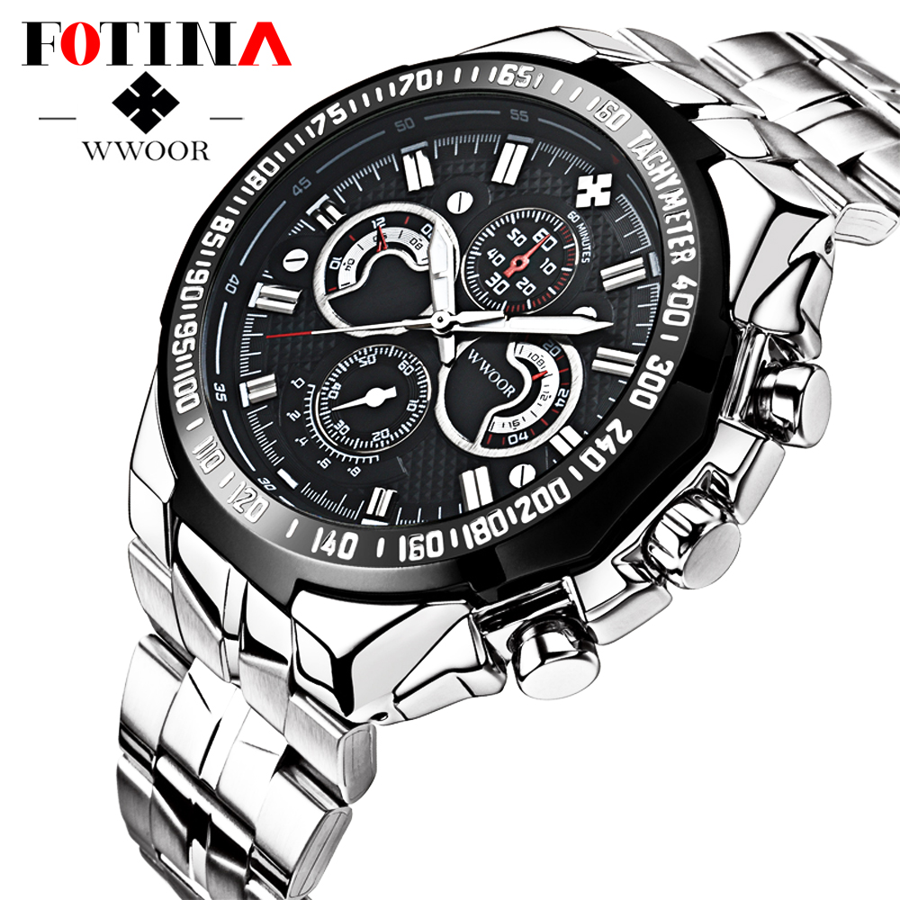 FOTINA Luxury Brand Men Watch New Authentic Sport Watch Men Stainless Steel Band Luminous Wristwatch Relogio Male Clock<br><br>Aliexpress