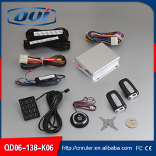New universal QD06 One Way car security alarm system with PKE Keyless entry auto remote control car