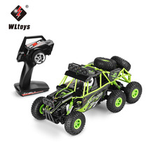 WLtoys 18628 Remote Control Car 1/18 2.4G 6WD Electric Toy Cars Model Off-Road Rock Crawler Climbing RC Buggy Outdoor Racing Car(China)
